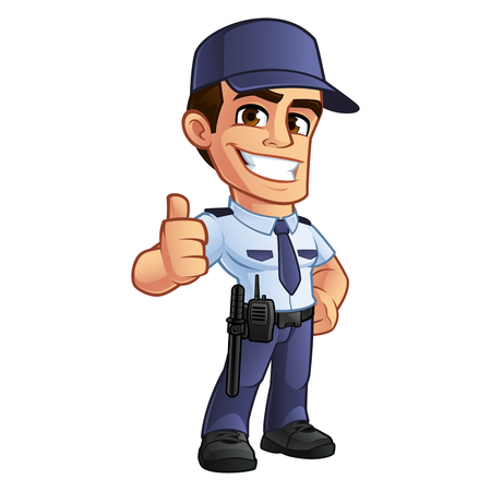 Nice security guard, hes dressed in uniform Illustration