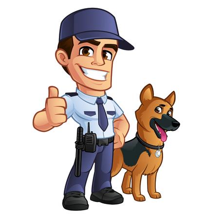 Bella guardia di sicurezza, è vestito in uniforme Archivio Fotografico - 75642503