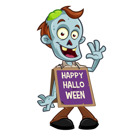 Funny zombie to celebrate halloween party Illustration