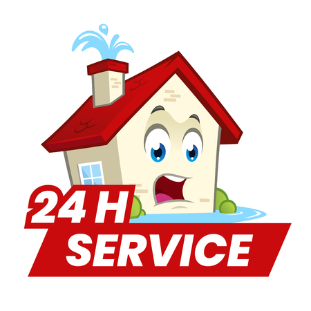 Fun house with water leaks and a twenty-four hour service signal.