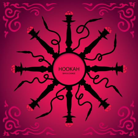 hobble: Hookah Menu Cover Page Vector Art