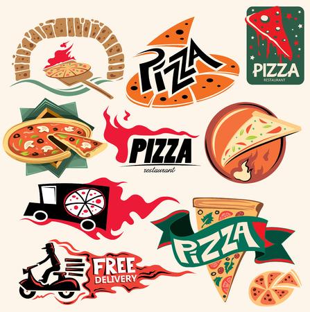 eps vector art: Pizza Restaurant Icon Collection Vector Art