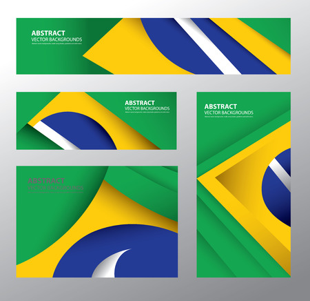 brazilian flag: Abstract Brazilian Flag Vector Art