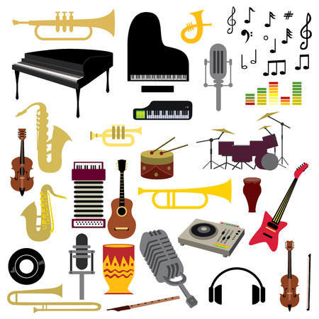 Music icon collection Vector Art Stock fotó - 50761736