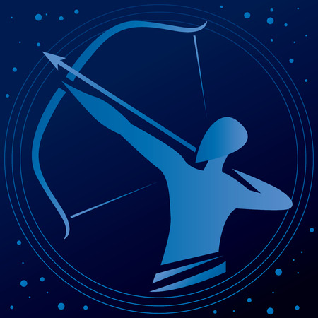 Archer Pointing Arrow Vector Art