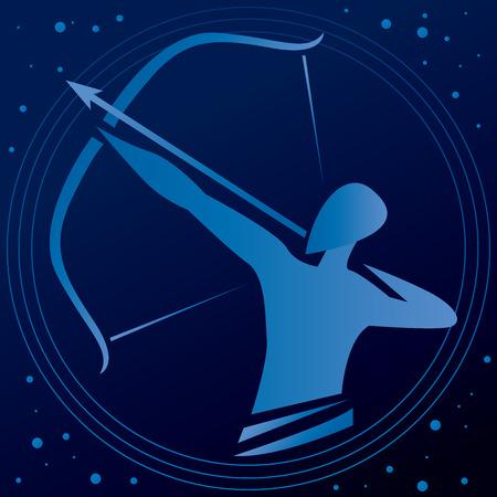 Archer Pointing Arrow Vector Art Banco de Imagens - 51633294