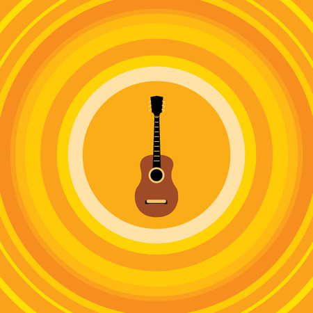 Guitar Concert Banner, Musical Icon Vector Art