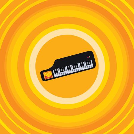electronica musica: Música Electrónica teclado icono de la ilustración de arte vectorial