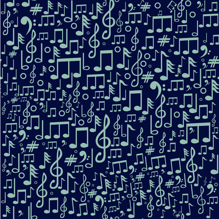 Musical Notes Abstract Background Vector Art