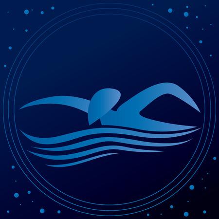 Zwemmen Man in the Water Icon Vector Art