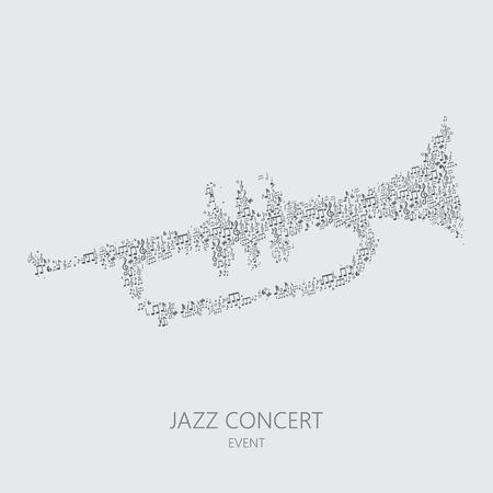 Trumpet Music Event, Vector Jazz Festival Art Banque d'images - 51633441