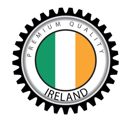 irish flag: Made in Ireland Seal, Irish Flag (Vector Art)