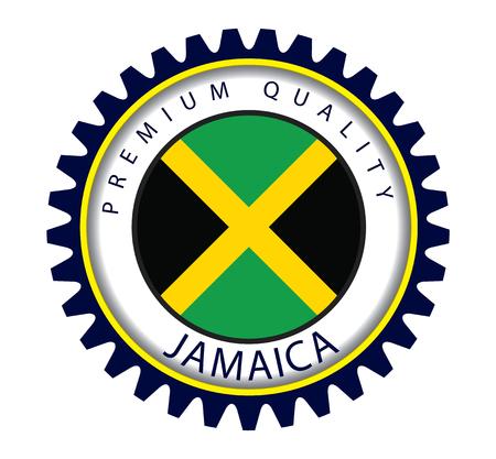 jamaican: Jamaica Seal, Jamaican Flag (Vector Art) Illustration