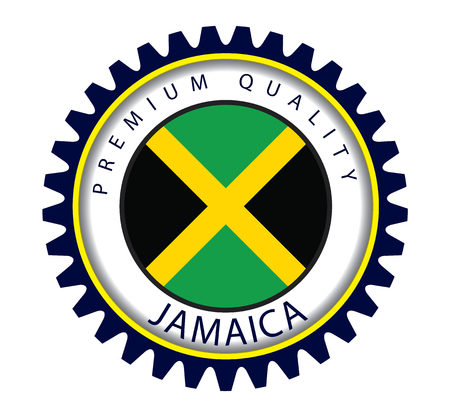 Jamaica Seal, Jamaican Flag (Vector Art) Illustration