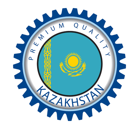 kazakh: Kazakhstan Seal, Kazakh Flag (Vector Art) Illustration