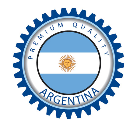 argentinian flag: Argentina Seal, Argentinian Flag (Vector Art)