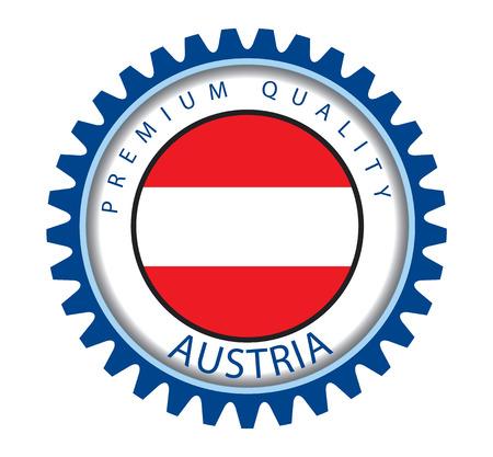 austrian: Austria Seal, Austrian Flag (Vector Art) Illustration