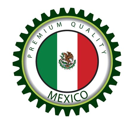 bandera de mexico: Sello de México, la bandera mexicana (Arte del vector)