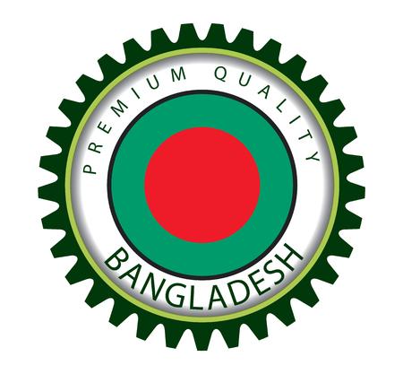 Bangladesh Seal, Bangladeshi Flag (Vector Art) Illustration