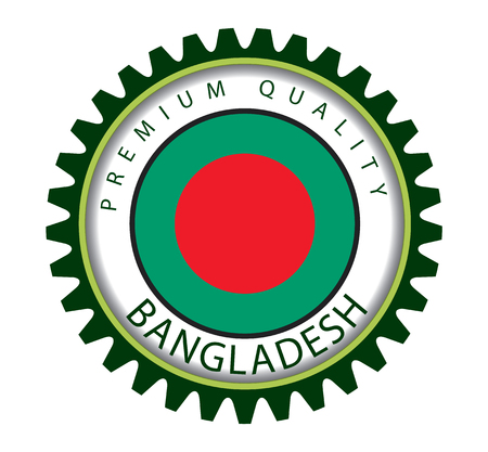 Bangladesh Seal, Bangladeshi Flag (Vector Art) Illustration