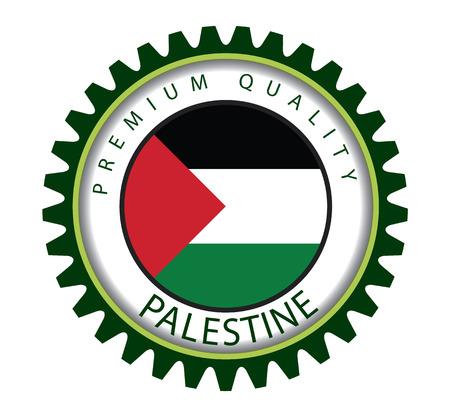 Palestine Seal, Palestinian Flag (Vector Art)