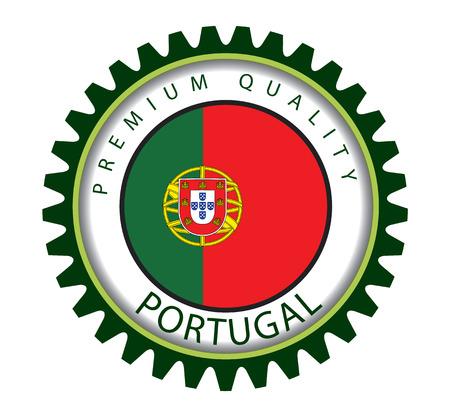 portuguese: Portugal Seal, Portuguese Flag (Vector Art)