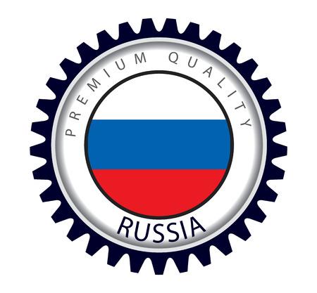 Russia Seal, Russian Flag (Vector Art)