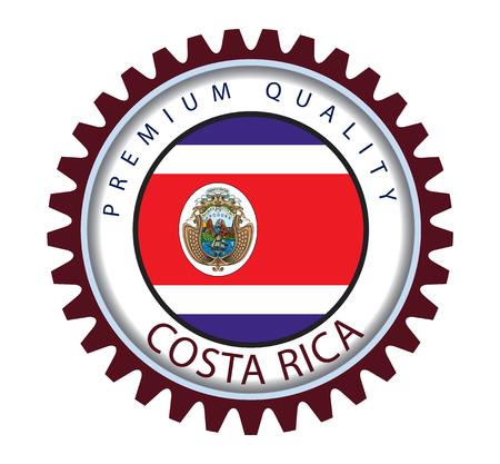 costa rican: Costa Rica Seal, Costa Rican Flag (Vector Art)