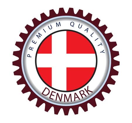 Denmark Seal, Danish Flag (Vector Art) Illustration