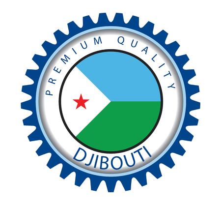 djibouti: Djibouti Seal, Republic of Djibouti Flag (Vector Art) Illustration