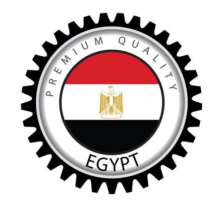 Egypt Seal, Egyptian Flag (Vector Art) Illustration