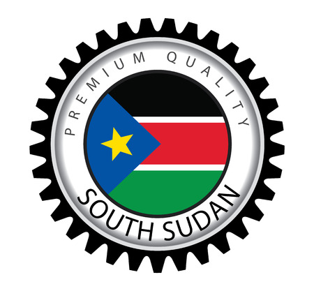 Sudan: Made in South Sudan Seal, s. Sudan Flag (Vector Art)