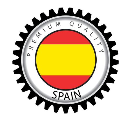 spanish flag: Made in Spain Seal, Spanish Flag (Vector Art) Illustration