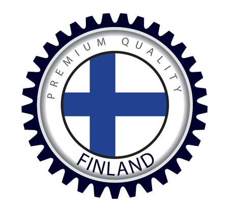 made in finland: Made in Finland Seal, Finnish Flag (Vector Art)