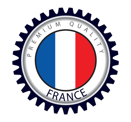 francais: France Seal, French Flag (Vector Art) Illustration