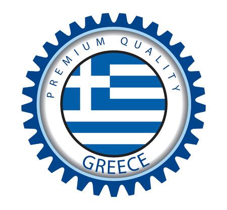 greek flag: Greece Seal, Greek Flag (Vector Art)