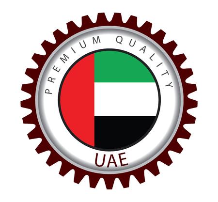 united arab emirate: UAE Seal, Emirates Flag (Vector Art)