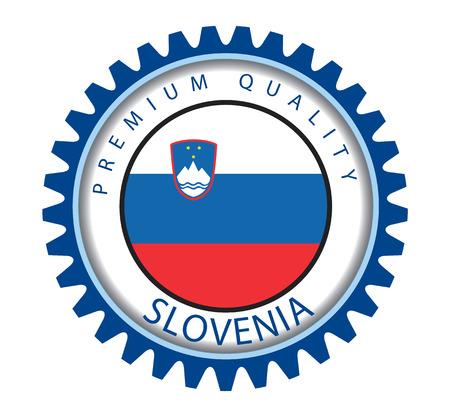slovenian: Slovenia Seal, Slovenian Flag (Vector Art)