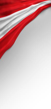 austrian: flag Austria Render, Austrian Flag (3D Render)