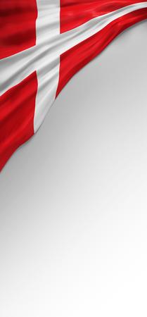 3d render: Flag Denmark Render, Danish Flag (3D Render) Stock Photo