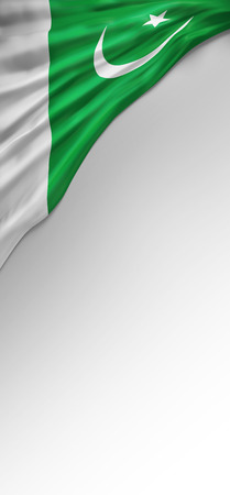 flag of pakistan: Flag Pakistan Render, Pakistani 3D Flag (3D Render)