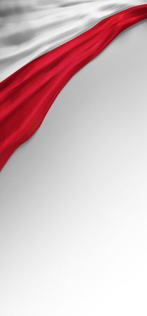 bandera de polonia: Bandera de Polonia sello, la bandera polaca (3d)