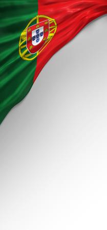 bandera de portugal: Sello de la bandera de portugal, bandera portuguesa (3d)