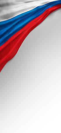 russian flag: Flag Russia Seal, Russian Flag (3D Render)