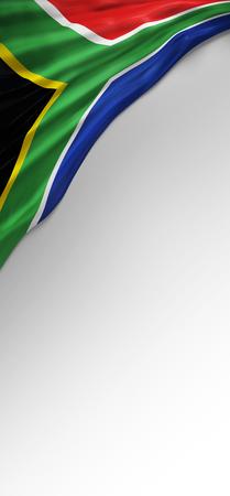 Drapeau du Sud Couleurs d'Afrique, Drapeau Afrique du Sud (3D Render)