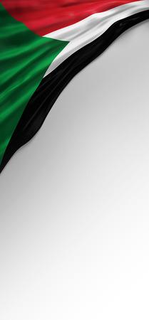 3d render: Flag Sudanese Colors, Sudan Flag (3D Render)