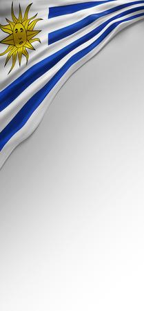 bandera uruguay: Flag Uruguayan Colors, Uruguay Flag (3D Render)