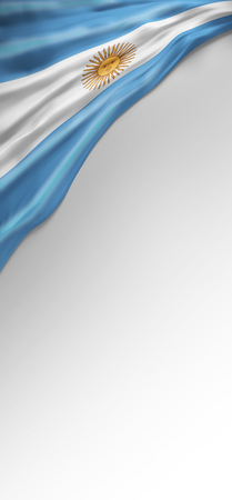 argentinian flag: flag Argentina Seal, Argentinian Flag (3D Render) Stock Photo