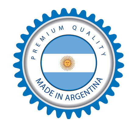 argentinian flag: Made in Argentina Seal, Argentinian Flag (Vector Art)
