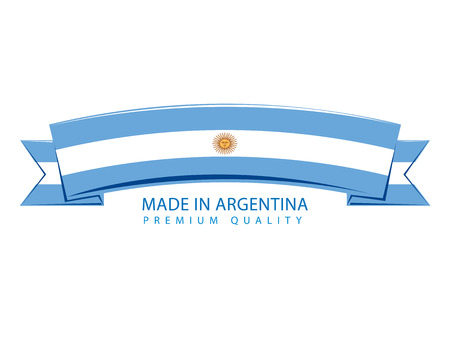 argentinian flag: Made in Argentina Banner, Argentinian Flag (Vector Art)